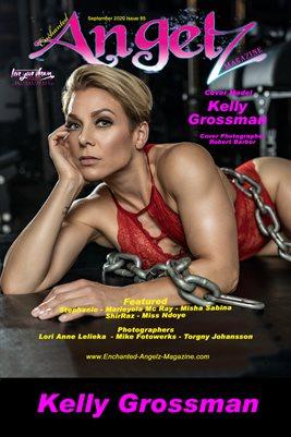 ENCHANTED ANGELZ MAGAZINE COVER POSTER - Cover Model Kelly Grossman - September 2020