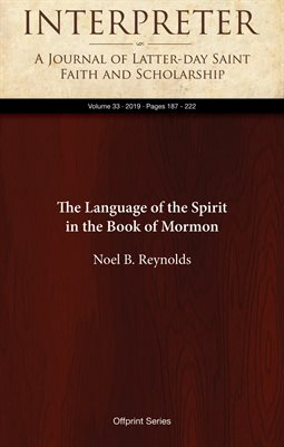 The Language of the Spirit in the Book of Mormon
