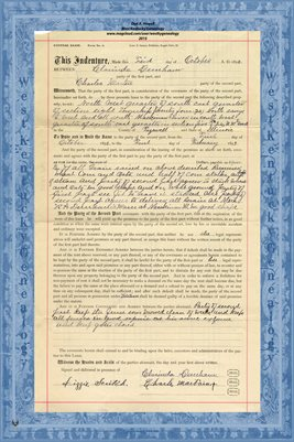 1892 General Lease, Clarinda Dunham & Charles Martin, Tazewell County, IL