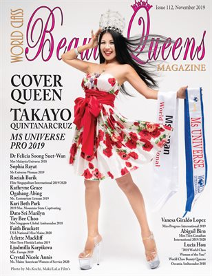 World Class Beauty Queens Magazine Issue 112 with Takayo Quintanarcruz
