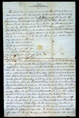 1865 DEED, ASA DERRINGTON TO W.J. HARGROVE, CALLOWAY COUNTY, KENTUCKY