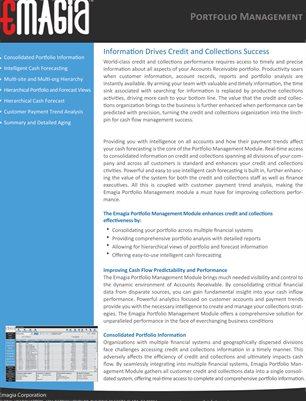 Emagia Portfolio Management