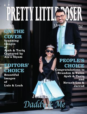 Pretty Little Poser Model Magazine - Issue 54 - Daddy and Me - June 2021