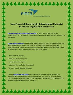 Non-Financial Reporting by International Financial Securities Regulatory Commission