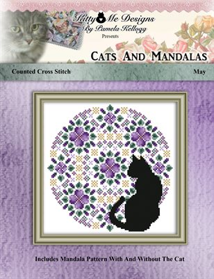 Cats And Mandalas May Cross Stitch Pattern