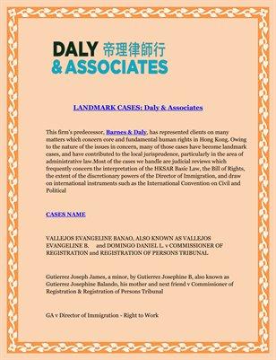 LANDMARK CASES: Daly & Associates