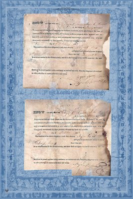 1823 Marriage Certificate's, Bryant Jones & Margret Thomison & Major C. Howell & Gatsey Jones, Maury County, Tennessee