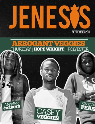 JENESIS Magazine September Issue feat Arrogant Veggies 2011