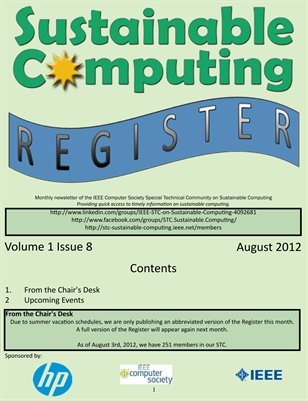 Sustainable Computing Register - August 2012