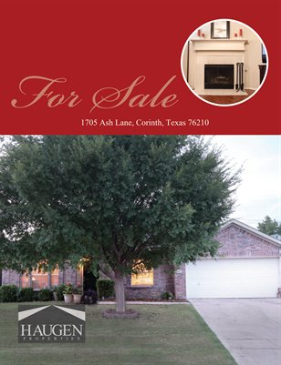 Haugen Properties-  1705 Ash Lane, Corinth, Texas 76210