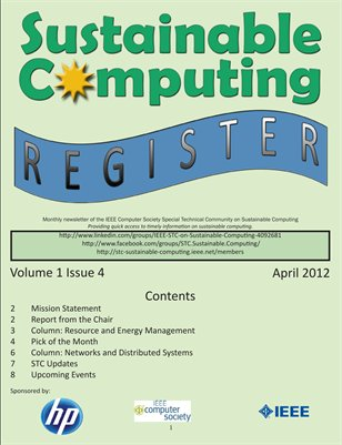 Sustainable Computing Register - April 2012