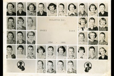 1954-1955 Beelerton School Grades 3-4-5 Hickman County, Kentucky