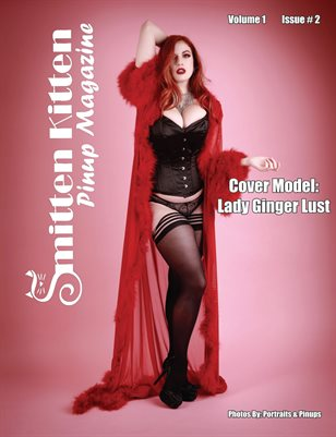 Smitten Kitten Pinup Magazine Cover 3 Lady Ginger Lust February 2020 Issue