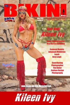 BIKINI INC USA MAGAZINE COVER POSTER - Cover Model Kileen Ivy - May 2018