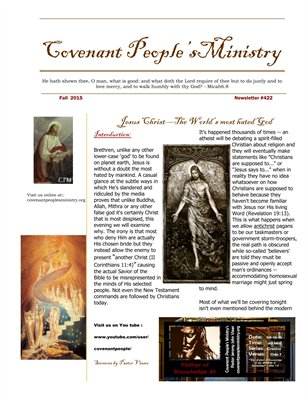 Covenant People's Newsletter #422