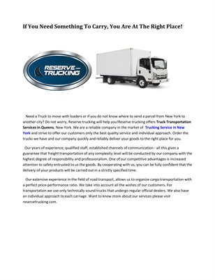 Reserve Trucking Corp