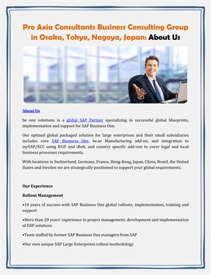 Pro Axia Consultants Business Consulting Group in Osaka, Tokyo, Nagoya, Japan: About Us