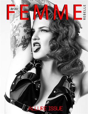 Femme Rebelle Magazine July 2021 ALLURE ISSUE - MyBoudoir Cover