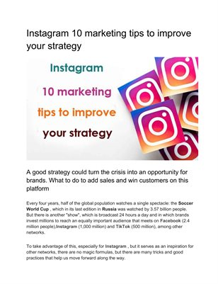 Instagram 10 marketing tips to improve your strategy