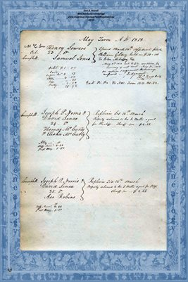 1818 MAY TERM, LYCOMING COUNTY, PENNSYLVANIA COURT PAGES 5-6