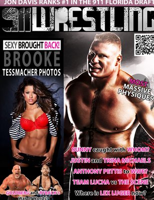 Brock Lesnar 911Wrestling Magazine - Brooke Tessmacher, Bill Goldberg and Ryback