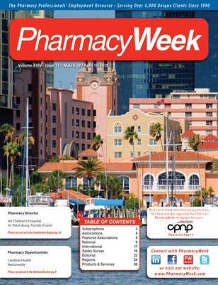 Pharmacy Week, Volume XXIV - Issue 13 - March 29 - April 11, 2015