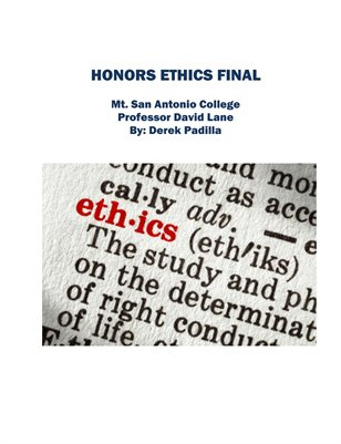 Honors Ethics Final