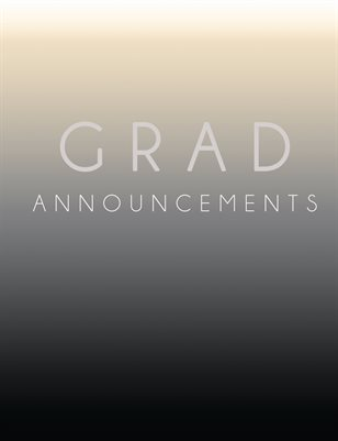 Grad Announcement Catalog