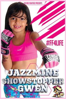 Jazzmine Gwen Pink Stripes - Poster