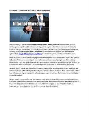Online Marketing Caribbean