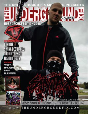 The Underground Fix Magazine 'HorrorCore' 2016 Edition