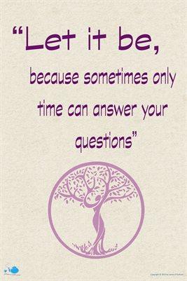 Let it be....