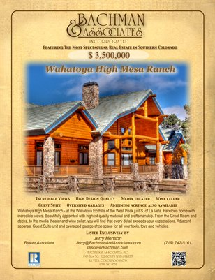 Wahatoya High Mesa Ranch 2-page brochure