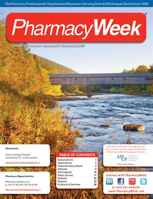 Pharmacy Week, Volume XXII - Issue 39 - November 3 - November 9, 2013