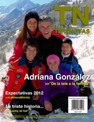 AdrianaGonzalez... de la tele a la familia