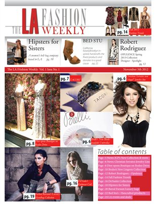 The LA Fashion Weekly Vol1. Issue1