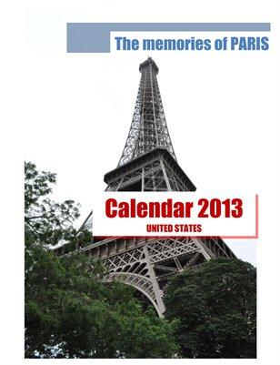 Calendar 2013 USA, The memories of PARIS
