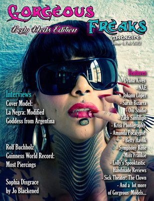 "Gorgeous Freaks Magazine Issue 4 ""Body Mod Edition"" Female Cover"
