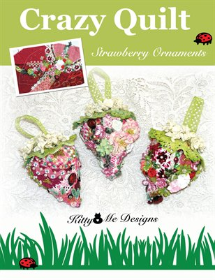 Crazy Quilt Strawberry Book