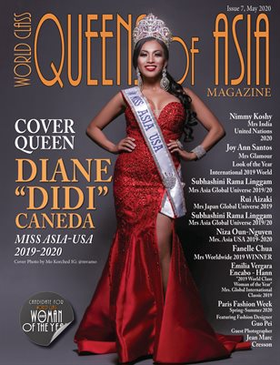 "World Class Queens of Asia Magazine Issue 7 with Diane ""Didi"" Caneda"
