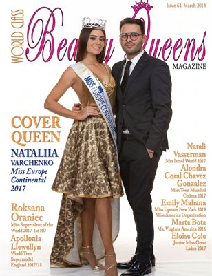 Issue 64 of World Class Beauty Queens Magazine with Nataliia Varchenko