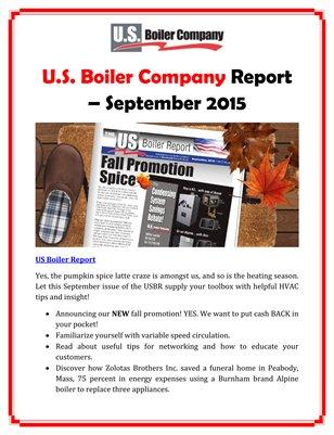 U.S. Boiler Company Report - September 2015