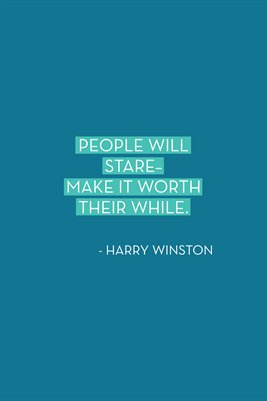 People will stare...