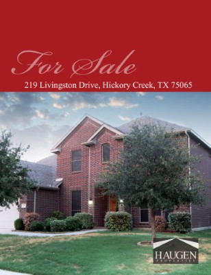Haugen Properties - 219 Livingston Drive, Hickory Creek, Texas 75065