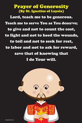 Happy Saints Prayer of Generosity Poster