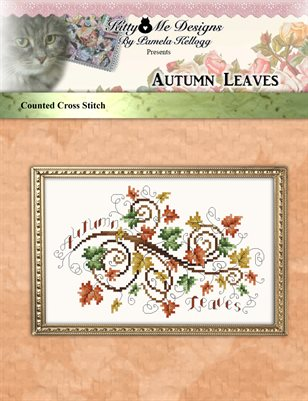 Autumn Leaves Cross Stitch Pattern