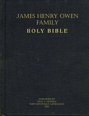 Owen & Orr Family Bible