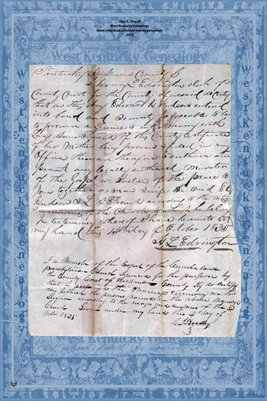 1835 Marriage Record, Edward Hudson and Lucy Anne French, Hickman County, Kentucky