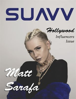 SUAVV Magazine Hollywood Influencers Issue Matt Sarafa Cover