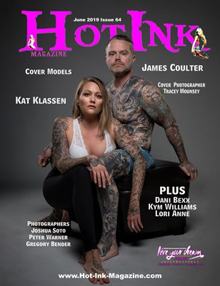 HOT INK MAGAZINE - Cover Models Kat Klassen & James Coulter - June 2019